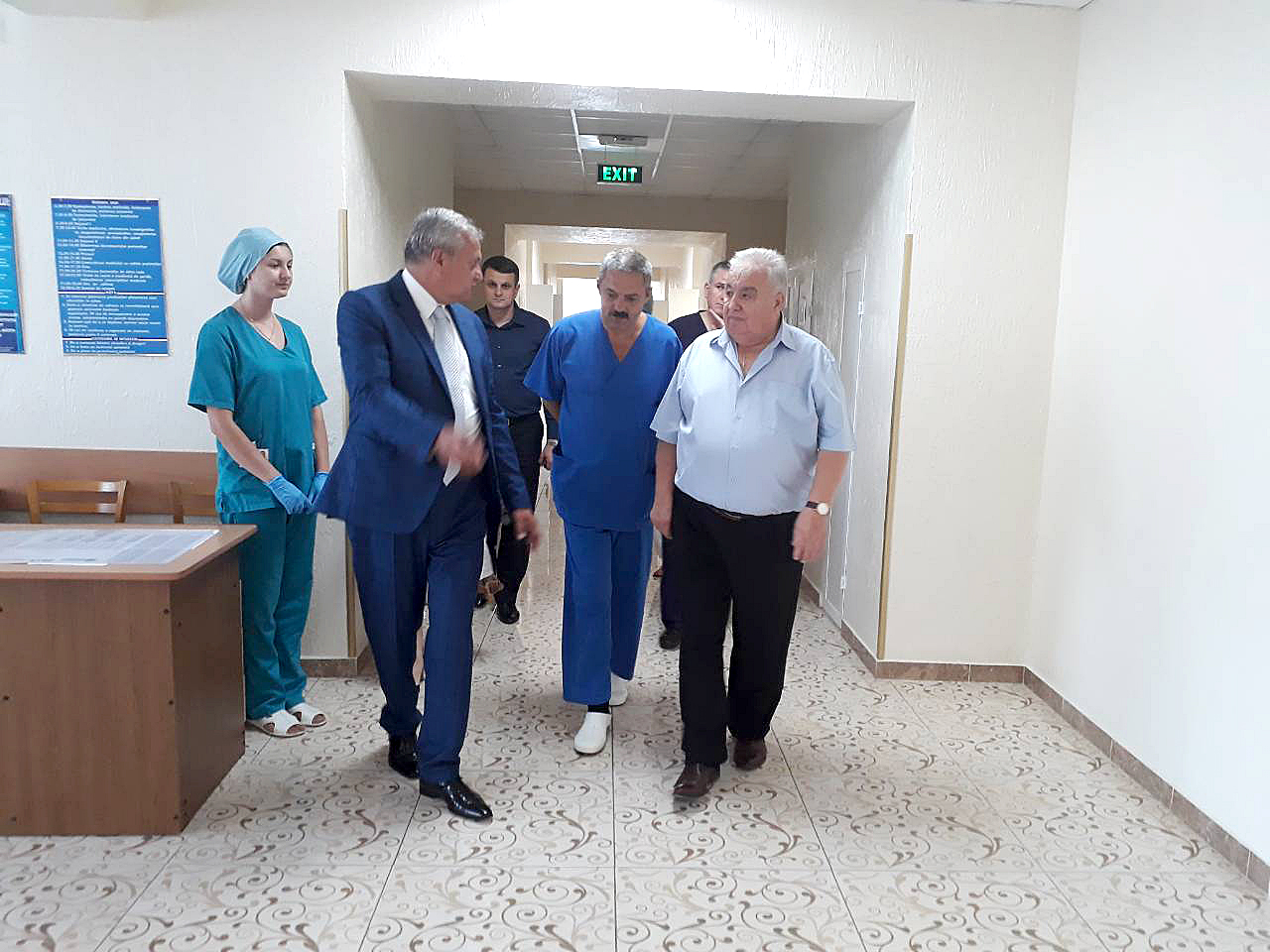 """Spitalul Clinic Municipal """"Sf. Arhanghel Mihail"""", onorat de vizita managerului Spitalului Municipal de Urgență Moinești, România"""