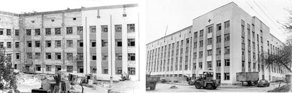 Blocul chirurgical în proces de construcție